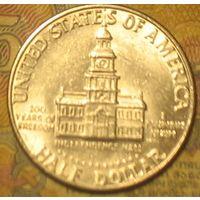 """1/2 доллара 1976D США """"200 лет независимости"""""""