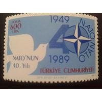 Турция 1989 40 лет НАТО полная серия