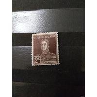 1923 Аргентина чистая клей лёгкая наклейка генерал Сан Мартин (1-10)