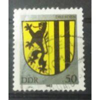 ГДР герб Дрездена 1983
