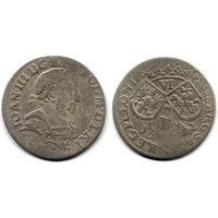 6 грошей (шостак) 1682 TLB, Ян III Собесский, Краков. Ав: портрет в доспехах, редкий вариант, R3!