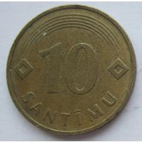 Латвия 10 сантим 1992