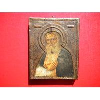 Старинная икона Серафим Саровский.