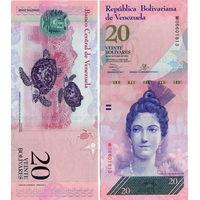 Венесуэла  20  боливаров  образца 2007 года  UNC