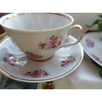 Чайные тройки рижский фарфор
