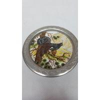 Тарелочка декоративная Глухарь ,фарфор,металл,Bavaria