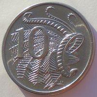 Австралия, 10 центов 1983 года, Елизавета II/ Лирохвост, UNC