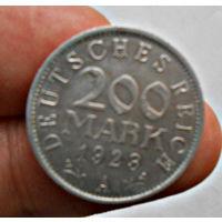 Германия, 200 марок, 1923 год, А, VF