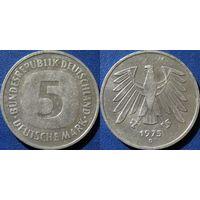 ФРГ, 5 марок 1975 D. монетный двор Мюнхен