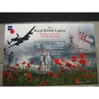 Марки, Гибралтар, 2011 - война, транспорт, военная техника, самолеты, корабли, авиация, флот, флаги, флора, цветы, архитектура ,скульптура, блок