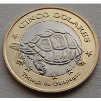Галапагосские острова. 5 долларов 2008 год  Unusual
