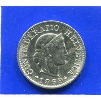 Швейцария 5 раппен 1969