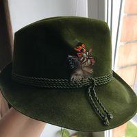 Шляпа с пёрышком Англия шерсть 56