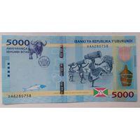 Бурунди 5000 франков 2015 года UNC