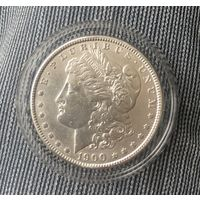 США, 1 доллар , 1900г, серебро