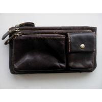 Мужская сумочка-клатч , кожаная, импортная, новая
