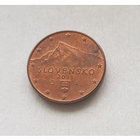 1 евроцент 2011 Словакия