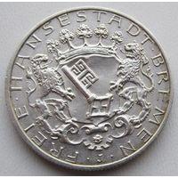 Германия, Бремен, 2 марки, 1904, серебро