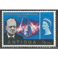 Антигуа. Королева Елизавета II и У.Черчиль. Премьер-министр. 1966г. Mi#146.