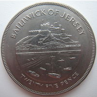 Джерси 25 пенсов 1977 г. 25 лет правления Королевы Елизаветы II