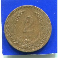 Венгрия 2 филлера 1905