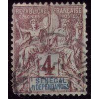 1 марка 1892 год Сенегал 10