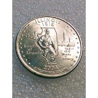 Квотер 2003 США 25 центов Иллинойс Illinois