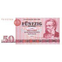 Германия (ГДР) 50 марок 1971 г UNC
