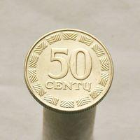 Литва 50 центов 2000