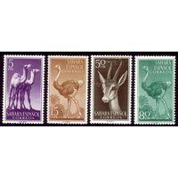 4 марки 1957 год Испанская Сахара Фауна 164-166,168