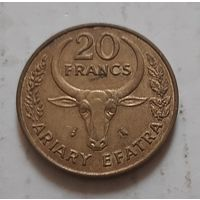 20 франков 1970 г. Мадагаскар