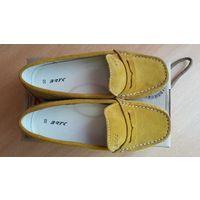 Туфли-макасины замшевые Бартек