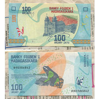 "Распродажа коллекции. Мадагаскар. 100 ариари 2017 года (P-97a - 2017 ND ""Madagascar and its Riches"" Issue)"