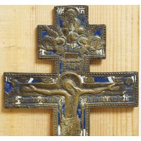 """Крест """"Распятие Христово"""". Эмаль-две. РЕДКИЙ"""