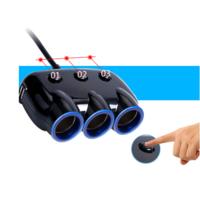 Автомобильный разветвитель прикуривателя на 3 гнезда и 2 гнезда USB.