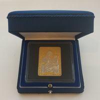 Футляр для серебряной монеты НБ РБ в квадратной капсуле размером ячейки 62.3х62.3 темно-синий