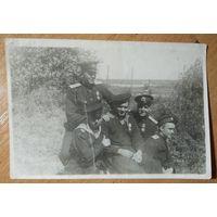 Фото группы военных. 1944 г. 9х13 см