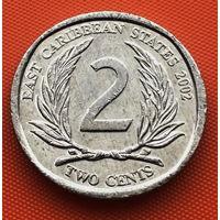 115-24 Восточные Карибы, 2 цента 2002 г.