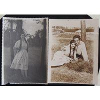 """Фото """"Пара в вышиванках"""", 1940 г., Мядельщина"""