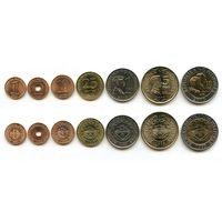 Филиппины набор 7 монет 1993-2013 UNC