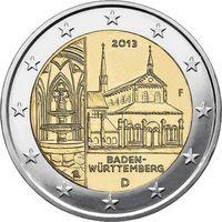 2 евро 2013 Германия F Баден UNC из ролла