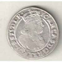 Польша 6 грош 1666 Ян Казимир