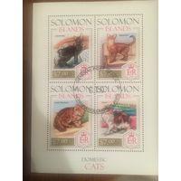 Соломоновы острова 2013. Коты (блок)