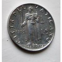 Ватикан 5 лир, 1953 2-2-14