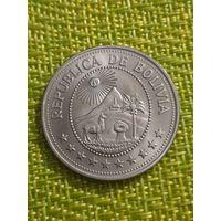 Боливия 5 песо боливиано 1976 г