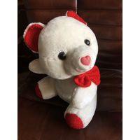 Медведь Белый мишка мягкая Игрушка не маленький очень милый