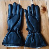 Байкер: Перчатки мужские кожаные с длинной крагой: для байкера или летчика. Перчатки с длинными манжетами (крагами).