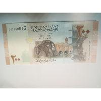 Сирия 200 фунтов UNC с 2 руб.