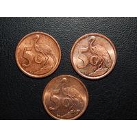 ЮАР 5 центов (список)