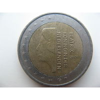 Нидерланды 2 евро 2001г.   Распродажа!!!
